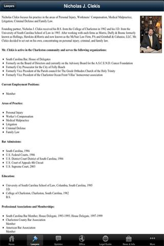 The Clekis Law Firm- screenshot