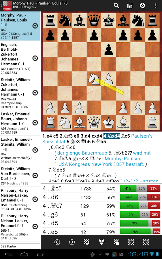 ChessBase Online - screenshot