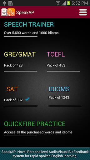 SpeakAP-Pro Pronunciation app