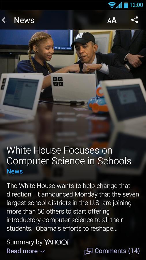 Yahoo - News, Sports & More - screenshot