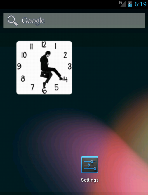 Ministry of Silly Walks Clock - screenshot