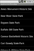 Screenshot of Wyoming State Parks (Tablet)