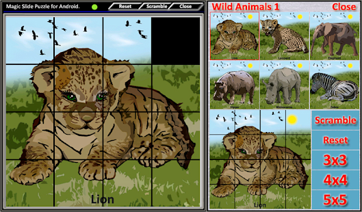 Magic Slide Puzzle W.Animals 1 Screenshot 16