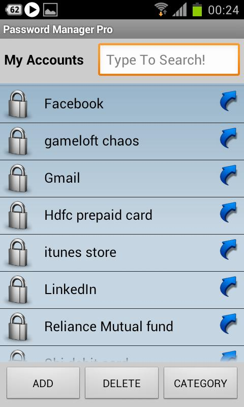 Password Manager Pro - screenshot
