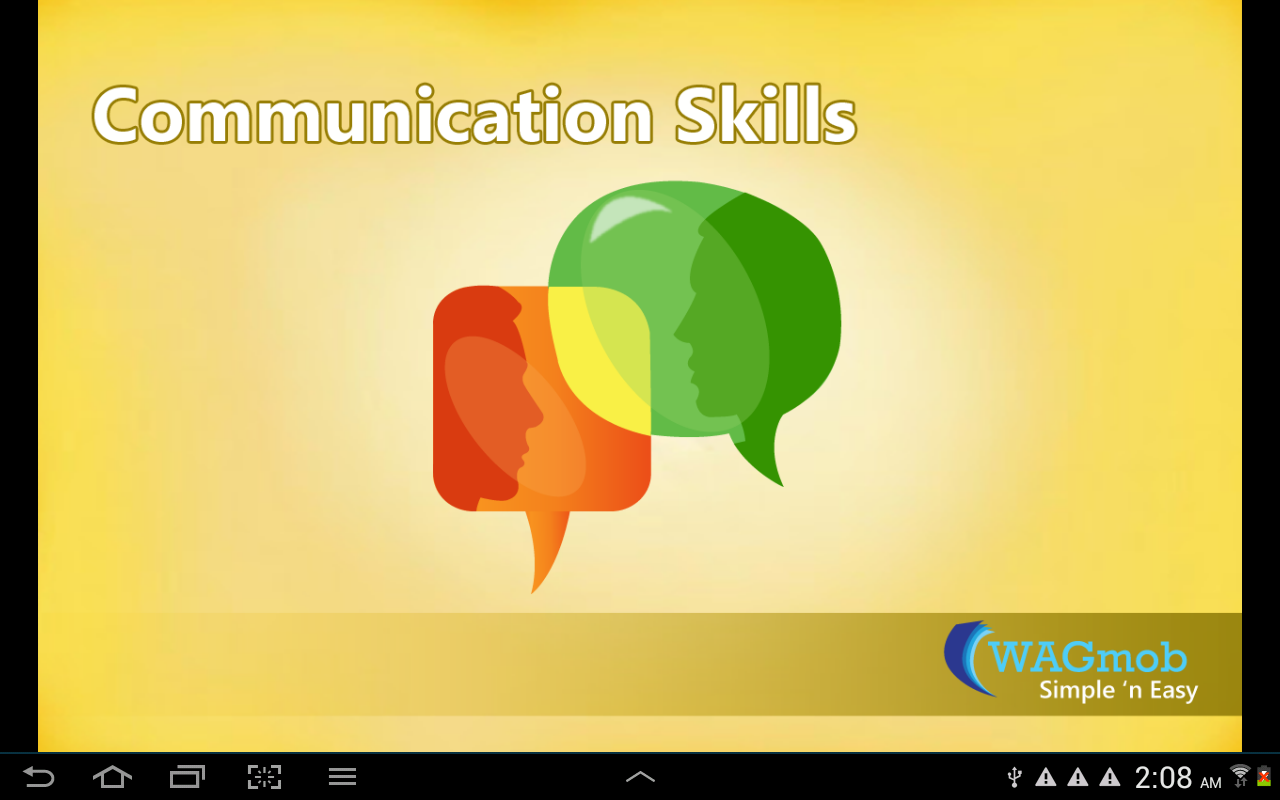 Communication Skills by WAGmob - screenshot