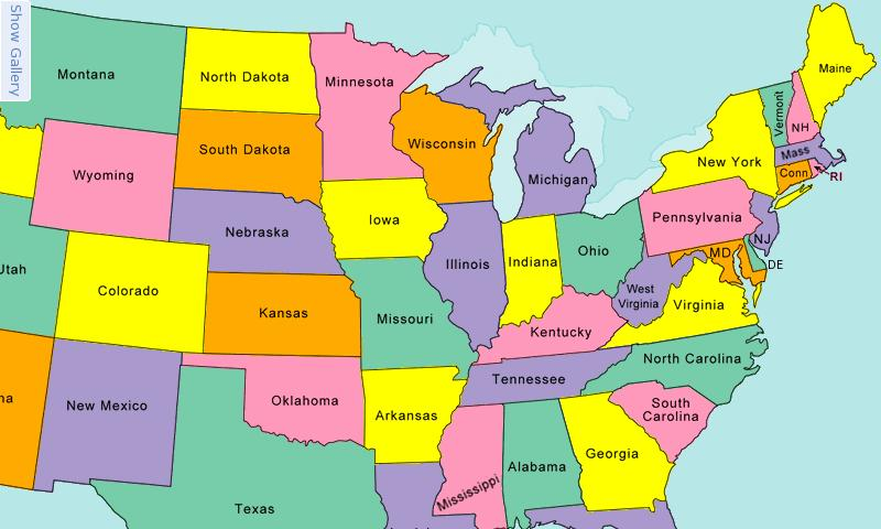 Show Map Of United States Of America My blog