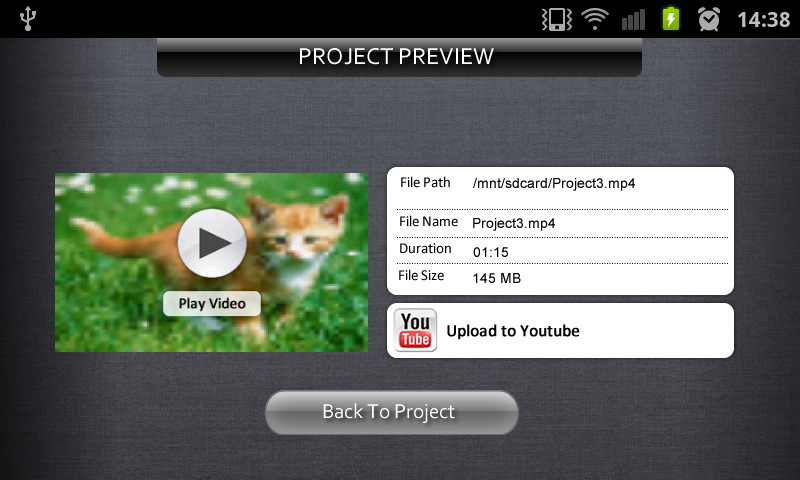 Andromedia Video Editor - screenshot