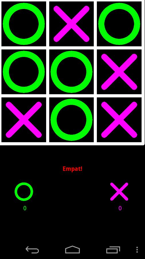 Tres en ratlla - screenshot