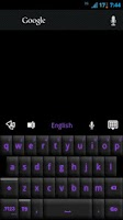 Screenshot of GO Keyboard Black Purple Theme