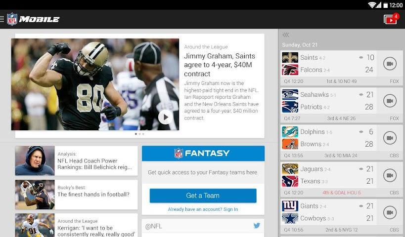 Screenshot 1 NFL Mobile