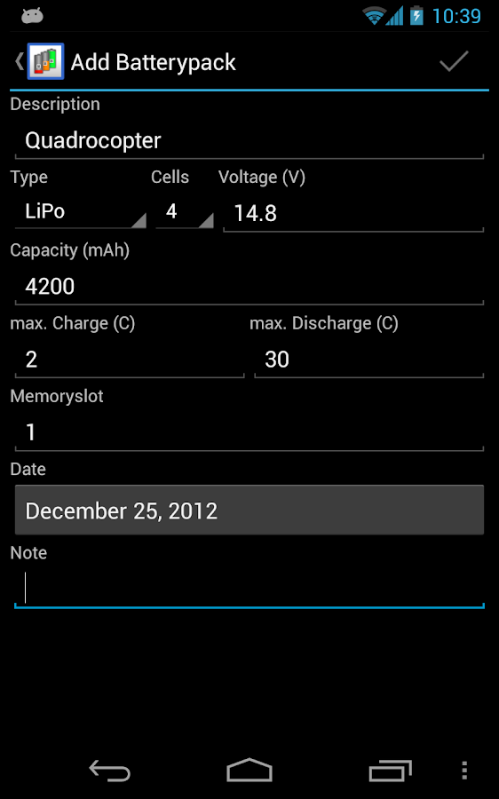 Battery Organizer - screenshot