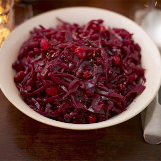 Red Cabbage With Balsamic Vinegar & Cranberries.