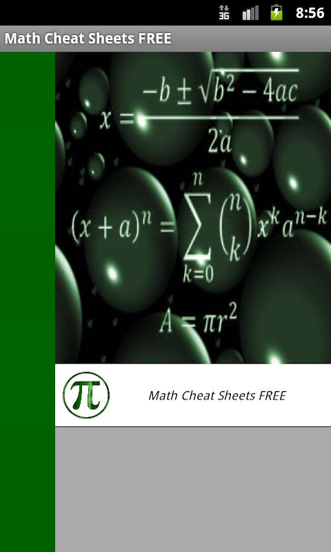 Math Cheat Sheets FREE - screenshot