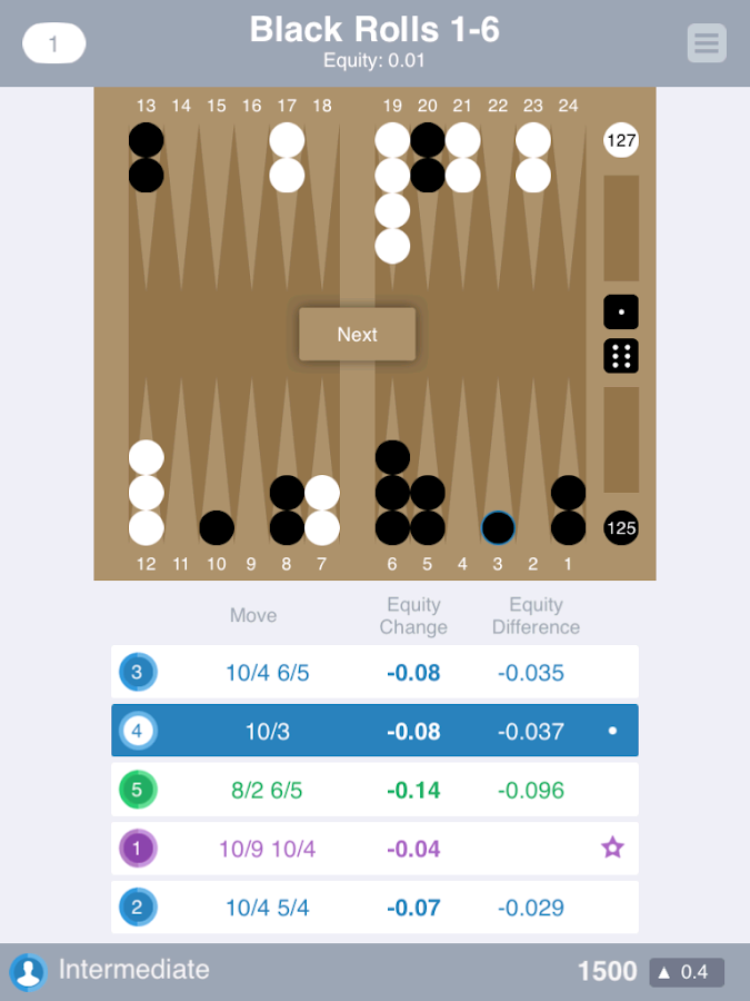 Backgammon Trivia- screenshot