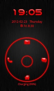 Go Locker Theme Red Tech- screenshot thumbnail
