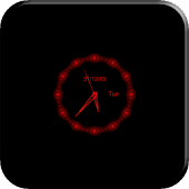 Red Clock Live Wallpaper