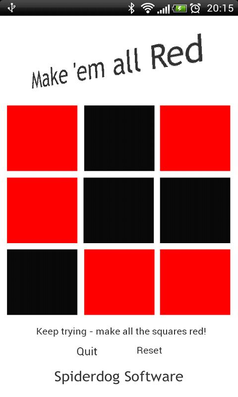 Make em all Red! Keypad Puzzle- screenshot
