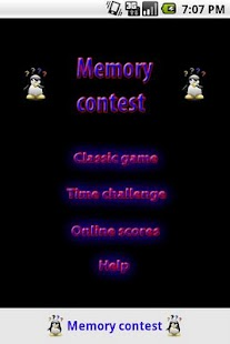 Memory game contest