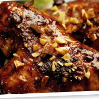 Chicken Wings with Easy Mole Sauce.