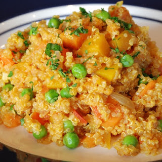 Quinoa with Butternut Squash.