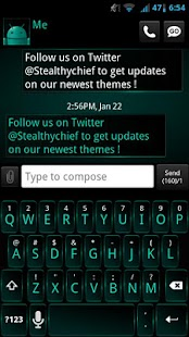 GO SMS Dark Cyan Theme - screenshot thumbnail