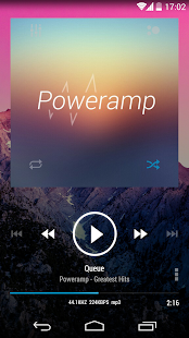 Poweramp skin KK Transparent