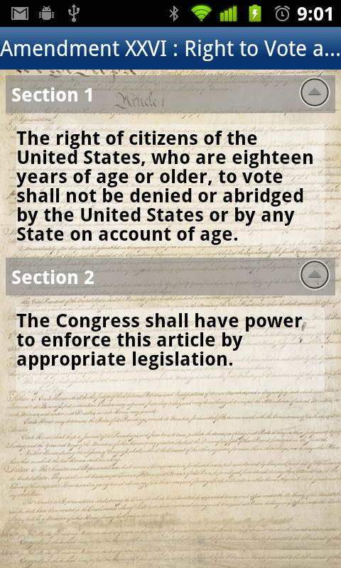 Drexel U.S. Constitution - screenshot