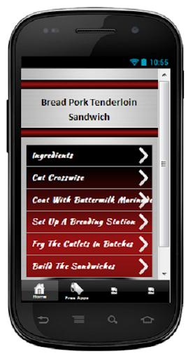 Bread Pork Tenderloin Sandwich