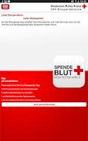 Screenshot of Blutspende beim DRK