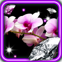 Orchid Diamonds live wallpaper icon