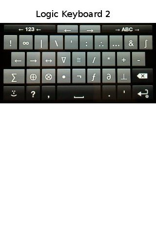 Logic Symbols Keyboard- screenshot