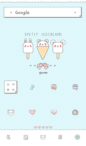 petit icecream dodol theme