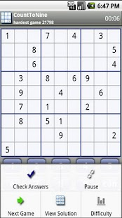 Count To Nine Sudoku- screenshot thumbnail
