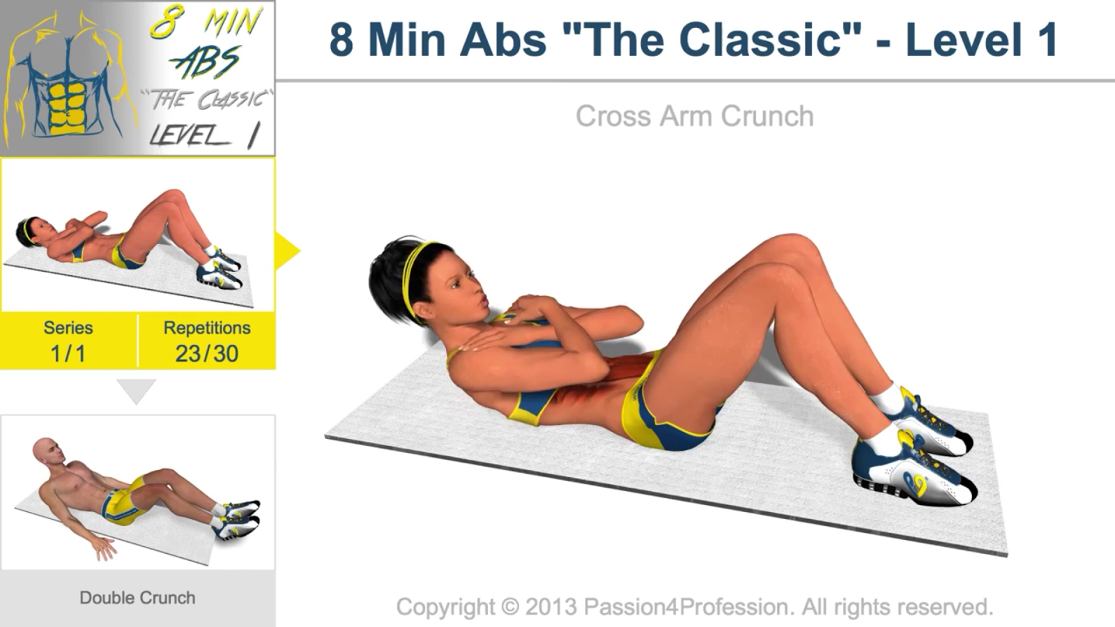 8 Minutes Abs Workout - screenshot