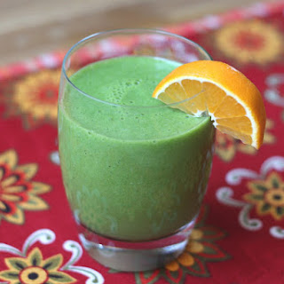 Pineapple Orange Banana Spinach Smoothie.