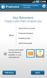 Retirement Income Calculator- screenshot thumbnail