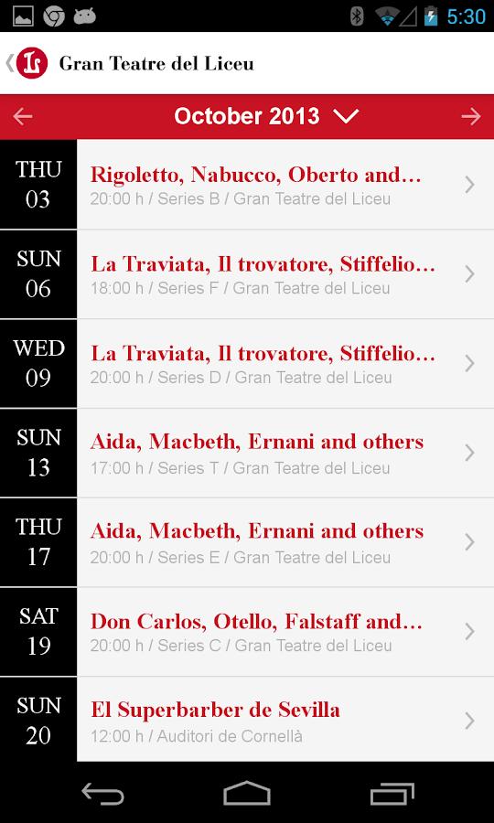 Gran Teatre del Liceu - screenshot