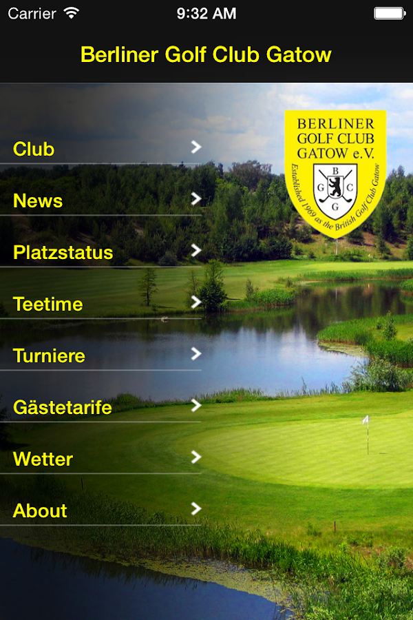 Berliner Golf Club Gatow e.V.- screenshot