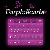 Purple Hearts GO Keyboard