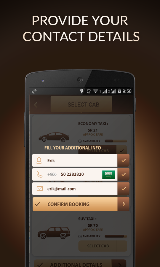 Taxi Booking App Book Taxi Cab - screenshot