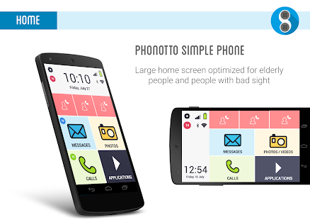 Phonotto Simple Phone Launcher Screenshot