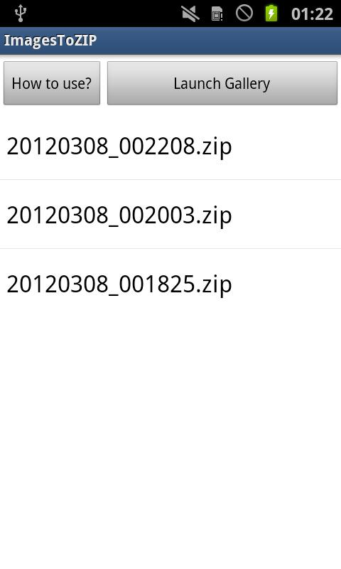 ImagesToZIP- screenshot