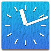 Big Blue Clock +Alarm | Widget
