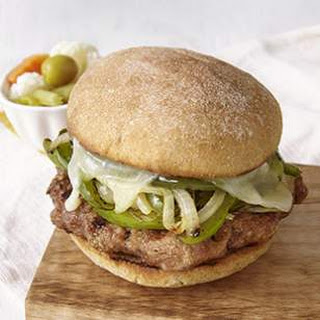 Turkey Sausage & Peppers Burger