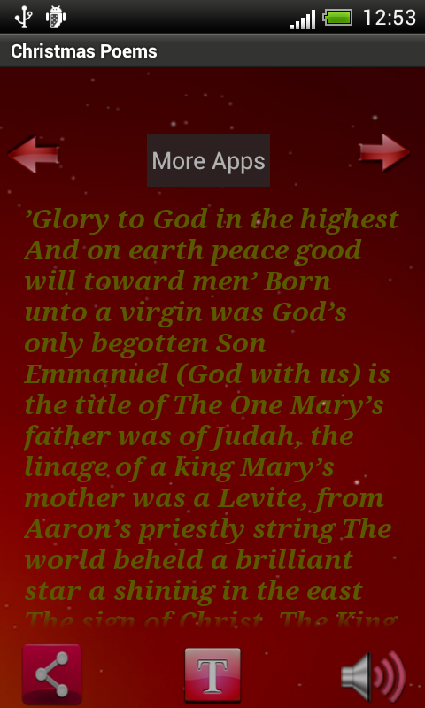 Christmas Poem Quotes App - screenshot