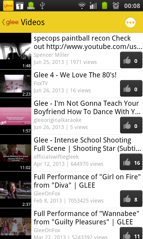 Glee Fan - screenshot