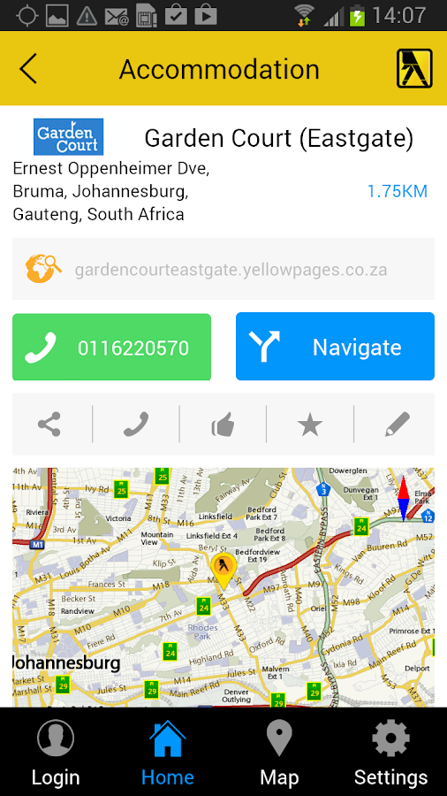 Yellow Pages South Africa - screenshot