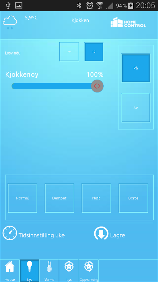 HomeControl- screenshot