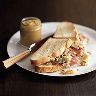 Salami Sandwich with Cauliflower Relish.