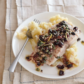 Roasted Mahimahi with Olives, Capers and Lemon